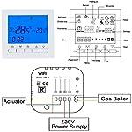 Beok-BOT-313-Wifi-Per-Programmabile-Caldaia-A-Gas-Cablata-Termostato-Con-Schermo-LCD-Controllo-Remoto-Online-Tramite-Smartphone-AC220V-3A-Blu-22000-voltVNecessit-Di-Alimentazione-Elettrica