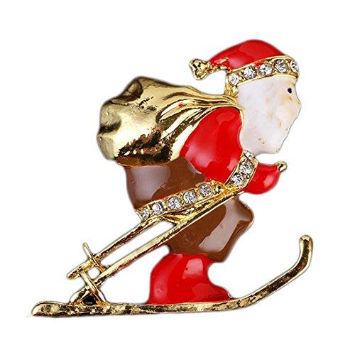 en für Damen Santa Claus Kleid Modeschmuck Uniform Party Dekoration Brosche Geschenk Kleidung Accessoires ()