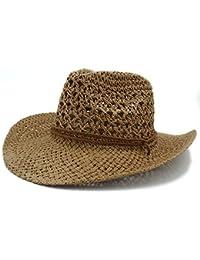 Ddpvopd Cappello estivo da donna Uomo Toquilla Cappello da cowboy di paglia  per gentiluomo Panama Jazz b7a3fcb3300c