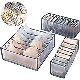 MORESAVE Organisateur de tiroir de sous-vêtements 3 pièces diviseurs de tiroir pliable placard organisateurs d'armoires pour