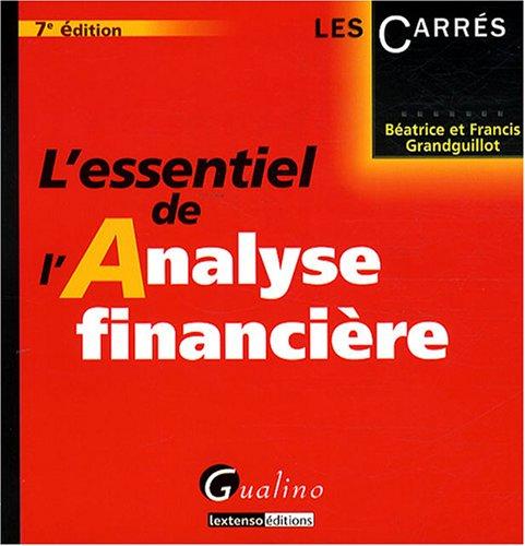 L'essentiel de l'Analyse financière