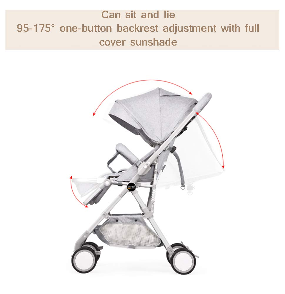 MYRCLMY Baby Strollers Double Pushchair Twins Tandem Pushchair,Lightweight With Convertible Bassinet Stroller Extended Canopy/Large Storage Basket,Pink  *LIGHTWEIGHT - Travel-friendly lightweight design is perfect for traveling and day trips. *EXTRA SPACE - Multi-position tilting seat and rotating calf support can be easily adjusted to ensure baby comfort; large storage basket and two integrated seat back pockets provide extra space for your baby. *RECLINING SEAT -- Reclining seat offers 5-point safety restraint system and accommodates child to 50KG per seat. 4
