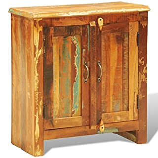 Anself Reclaimed Wood Cabinet Two Doors Vintage Antique-style