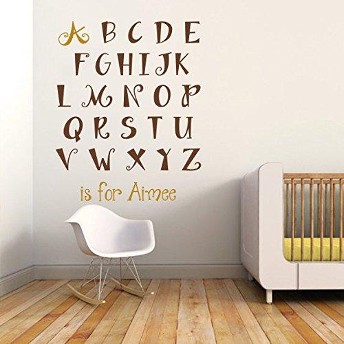 mairgwall Decor Personalizzato Bambini Nome Personalizzabile con Lettere dell' alfabeto Adesivo da parete decorazione da parete adesivo da parete
