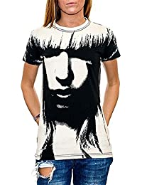 Lady Gaga - All Over Face Girls S/S T-Shirt In Black