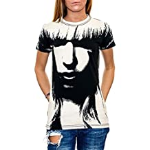 Lady GaGa - Lady Gaga - All Over Face Mädchen Kurzarm T-Shirt in schwarz