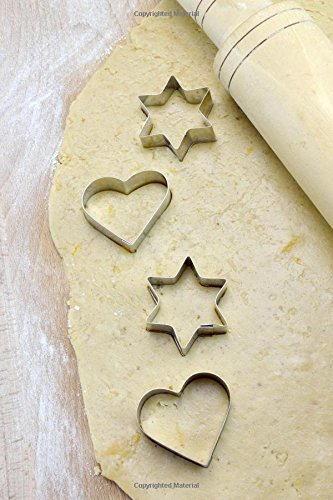 Making Cookies with Heart and Star Cookie Cutters Dough and Rolling Pin Journal: 150 page lined notebook/diary - Rolling Cookie-cutter