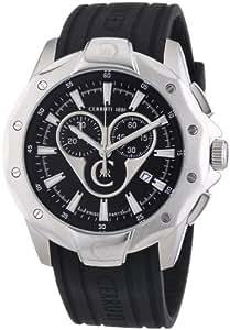 Cerruti 1881 Herren-Armbanduhr XL Chronograph Quarz Kautschuk CRA026A214G