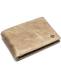49a96b8437fd1d QIOTTI ® Leder Geldbörse Portemonnaie Herren aus Echtleder I RFID Schutz I  Minibörse klein I Slim Wallet I Extra Flach Brieftasche…
