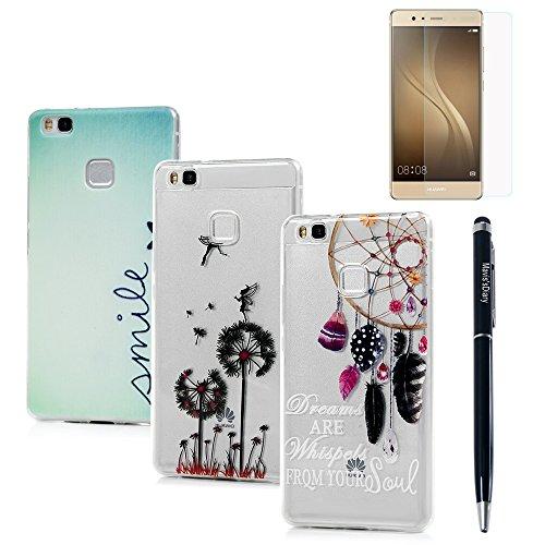3x Cover Huawei P9 Lite,Silicone Custodia in Gomma TPU Gel - Mavis's Diary Morbido Protettiva (Custodia Protettiva In Gomma)