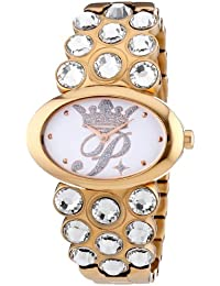 Paris Hilton PRINCESS PH12873MSR-01M - Reloj analógico de cuarzo para mujer, correa de acero inoxidable chapado multicolor