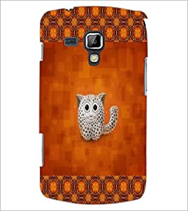 PrintDhaba Kitty D-2491 Back Case Cover for SAMSUNG GALAXY S DUOS 2 S7582 (Multi-Coloured)