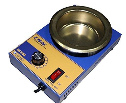 Schmelztiegel Ventilbox für Löten Lötzinn ø 100mm 2,2kg 300W.