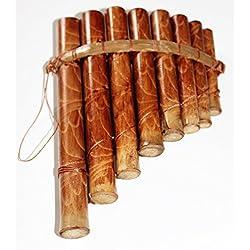 Flûte de bambou à la flute de pan pérou nai 16 x 12 cm - 8 tubes