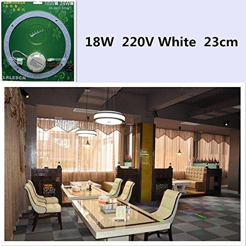 Elegant Atemberaubende 220 V LED Deckenleuchte rund weiß Nachtlicht für Home Office Dekoration 18w