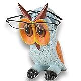 ART-CRAFT Brillenhalter Eule aus Holz handgeschnitzt und handbemalt 20cm