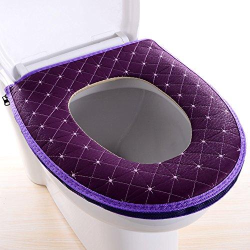 DADAO Sedili WC Sedile Coperchio pastiglie Lavabile riutilizzabili WC copertine rinfrescante,Traspirabilità,Chiusura Lampo Antibatterica-D