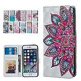 E-Mandala Housse Coque Portefeuille Apple iPhone 5 5S Se Cuir Paillette Brillante...