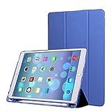 PINHEN Hülle für iPad Pro 9.7 mit Apple Pencil Halter - Schutzhülle mit Ständer Funktion und Auto Schlaf/Wachen für Apple iPad Pro 9.7 Inch 2016 Tablet
