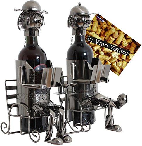 BRUBAKER Portabottiglie da vino regalo - coppia di coniugi