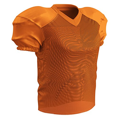 Champro Herren Adult Stretch Polyester Practice Football Jersey Trikot, Orange, Medium