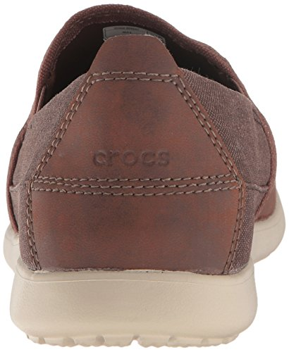 crocs Men's Santa Cruz Deluxe Slip-On Loafer Espresso/Mushroom