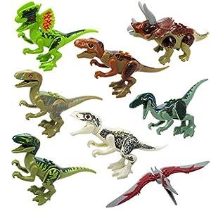 Nisels Bambini Mini Dinosaur Building Blocks, piccoli blocchi di costruzione, giocattoli educativi, primi giocattoli educativi