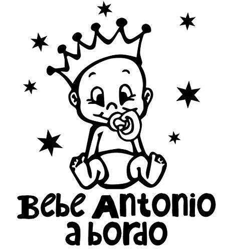 Pegatina Vinilo Bebe a Bordo + Nombre para Coche
