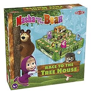 Tactic Masha and The Bear Race to The Treehouse Juego de Azar Niños - Juego de Tablero (Juego de Azar, Niños, 20 min, Niño/niña, 4 año(s), Interior)