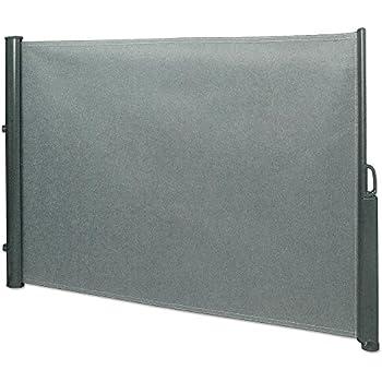 seitenmarkise 1 8 x 3 5 m grau sichtschutz seitenwandmarkise windschutz. Black Bedroom Furniture Sets. Home Design Ideas