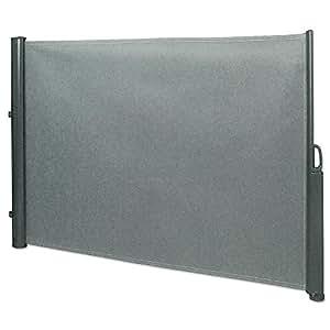 seitenmarkise 1 8 x 3 5 m grau sichtschutz. Black Bedroom Furniture Sets. Home Design Ideas