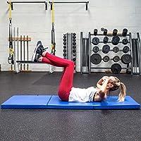 FORZA Colchoneta Plegable de Gimnasia/Yoga – Esterilla Gruesa 180cm x 60cm para Pilates, Entrenamientos & Estiramientos