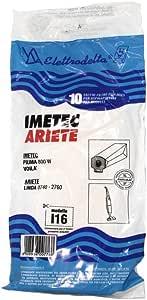 I107MF 5 sacchetti filtro in tessuto microfibra per aspirapolvere Imetec 72107