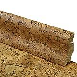 Korksockelleisten Fußleiste aus Echtholz mit Korkfurnier - Höhe: 40 mm - Tiefe: 20 mm - Länge: 2500 mm - Sie kaufen 1 Stück (1 Stück | 2,5 mtr, grob)