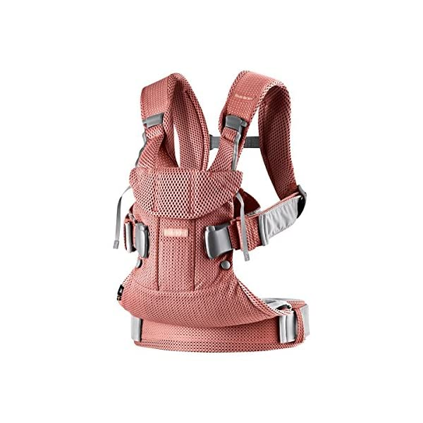 Baby Carrier One Air (Vintage Rose Mesh) Baby Bjorn •Soft and breathable mesh that dries quickly •Ergonomic baby carrier with excellent support •4 carrying positions: facing in (two height positions), facing out or on your back 3