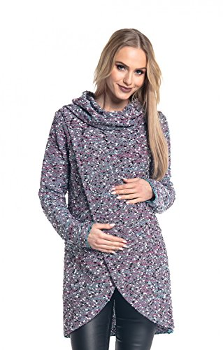01cfb182d Happy Mama. Para Mujer Suéter Cruzado Diseño de Capa Premamá de ...