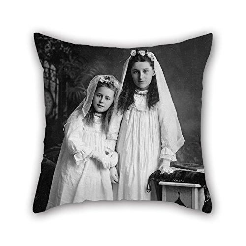 artistdecor-20-x-20-inches-50-by-50-cm-oil-painting-george-gregory-portrait-of-two-girls-throw-cushi