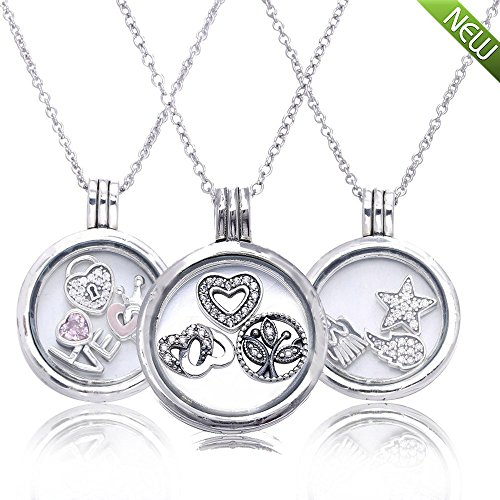d8047be9fd2 PANDOCCI 2016 Autumn Medium Floating Locket Necklace Pendants Charm  NecklacesOriginal 925 Sterling Silver Jewelry for Women