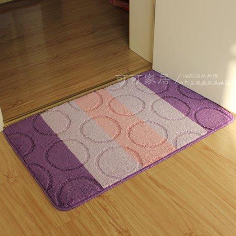JinYiDian'Shop-Matten Wasseraufnahme Matten Küche Badezimmer Slip-Proof Matte, Staub Remover, 50 * 80 cm, Lila (Staub Remover)