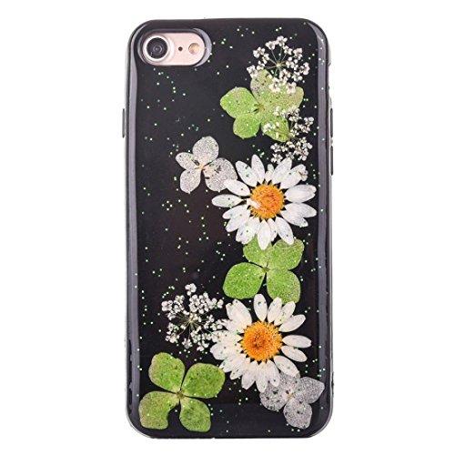 Cover per iPhone 7, Tpulling Custodia per iPhone 7 Case Cover Pelle floreale di alta qualità della copertura di caso di modello di modo per il iPhone 7 4.7 pollici (G) J