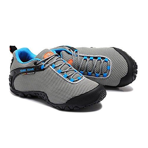 Xiang Guan Homme Lace-up Mesh Respirant Outdoor Footwear Chaussures de Camping Randonnée Trekking Trail Walking Gris