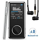 "[Neue Version] MP3 Player,Tinzzi MP3-Player Musik-Player Bluetooth Mit kompatibel HIFI,Digitales Audio-Player-Legierung integrierte Kapazität 8GB mit 1.8 ""/ 46 mm LED-Display / Portabler Player mit Lautsprecher / Audio-Player für Sport mit Micro SD-Kartenslot"