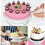 VR SHOPEE 1Pc White Revolving Cake Decorating Stand -Cake Turntable, 360 Degrees Cake Stand Revolving Dessert Decorating Stand Elegant