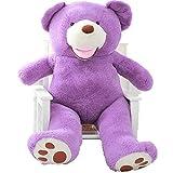 YunNasi 2m riesen Teddy in lila - Bio Baumwolle