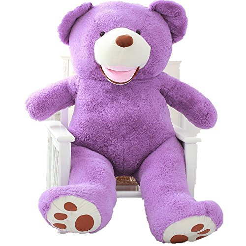 Panda Bear Kostüm Baby - Hugme Kuschel-Teddybär GIANT Bär 5 Farbe Kuscheltier 120 cm groß flauschig Baby Plüsch Lila 160cm