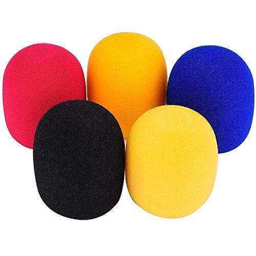 JUNGEN 5-Tovaglietta in Schiuma microfono parabrezza, (colori assortiti) - Schiuma Microfono Parabrezza
