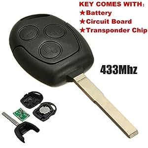 funkschl ssel f r ford 3 tasten 433 92 mhz von katur. Black Bedroom Furniture Sets. Home Design Ideas