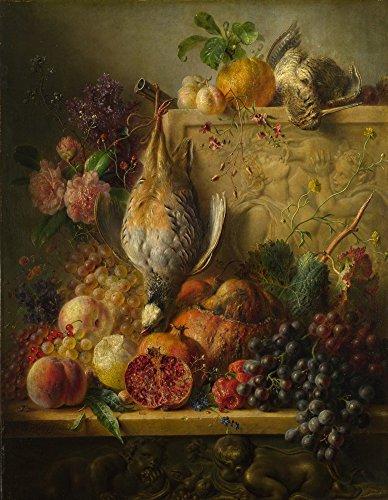 Das Museum Outlet-George Jacobus Johannes van Os-Obst, Blumen und Spiel-A3Größe Poster Print Online