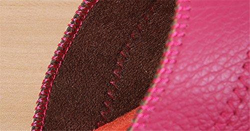 TELLW Solid Couleur Velours Corail Épaississement Chaud Plancher en Bois Pantoufles DHiver et en Plein Air Coton-Aimant les Femmes et les Pantoufles des Hommes Rouge