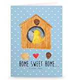 Mr. & Mrs. Panda Grußkarte Vogelhaus sweet Home - Vogelhaus, Vogel, Home sweet Home, Einzug, Umzug, Geschenk, Einzugsgeschenk, Hausbau, Haus Grusskarte, Klappkarte, Einladungskarte, Glückwunschkarte, Hochzeitskarte, Geburtstagskarte